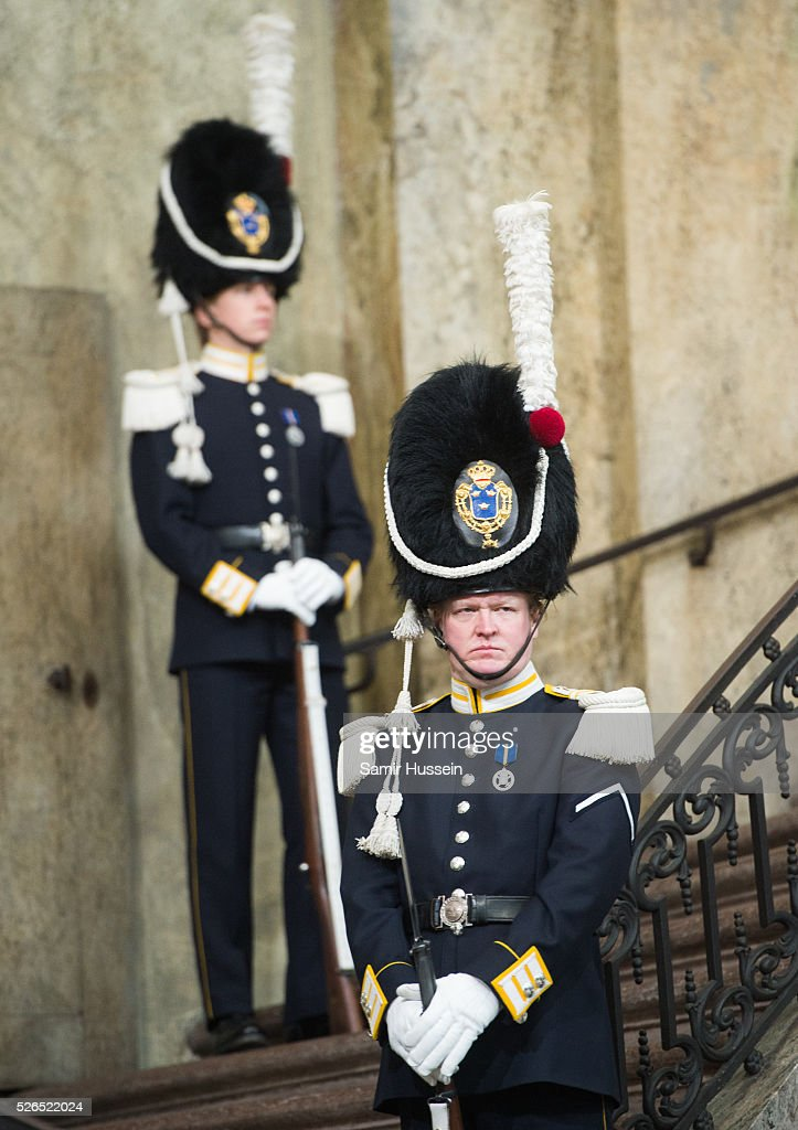 Atmosphere at the Royal Palace at the Te Deum Thanksgiving Service to celebrate the 70th birthday of King Carl Gustaf of Sweden on April 30, 2016 in Stockholm, Sweden.