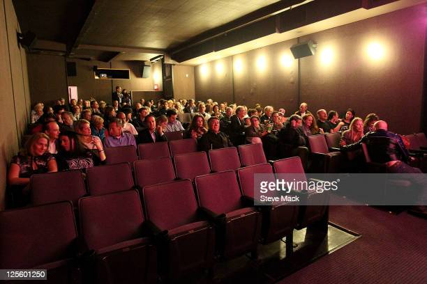 Atmosphere at the screening of film 'Back Door Channel The Price Of Peace' at Quad Cinema on September 18 2011 in New York City