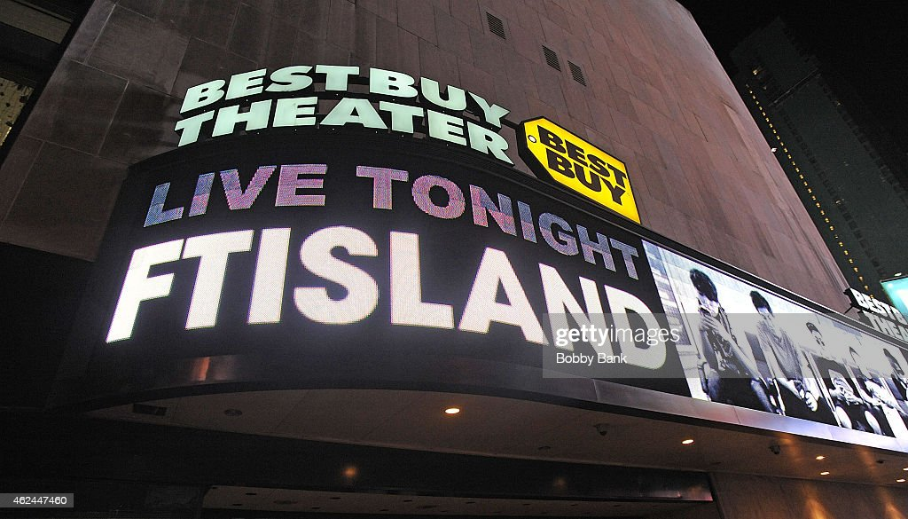 Atmosphere at the South Korean pop rock band FT Island performance at Best Buy Theater on January 28 2015 in New York City