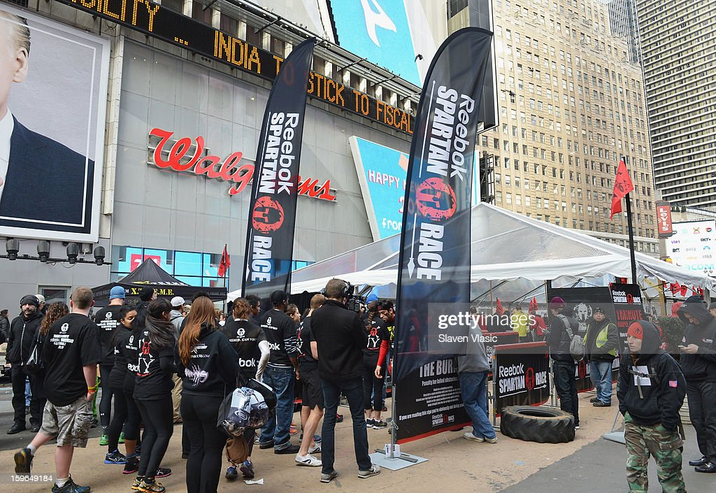 Atmosphere at the Spartan Race 2013 Launch at Times Square on January 17, 2013 in New York City.