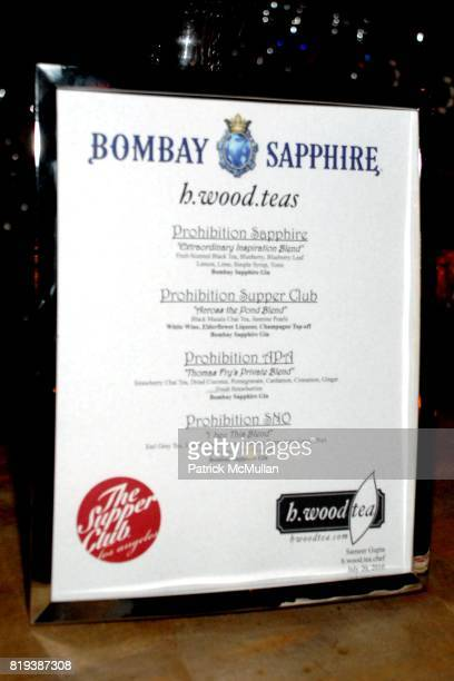 Atmosphere at The Supper Club Shepard Fairey's SNO host a Bombay Sapphire Tea Party at The Tea Room on July 20 2010 in Hollywood California