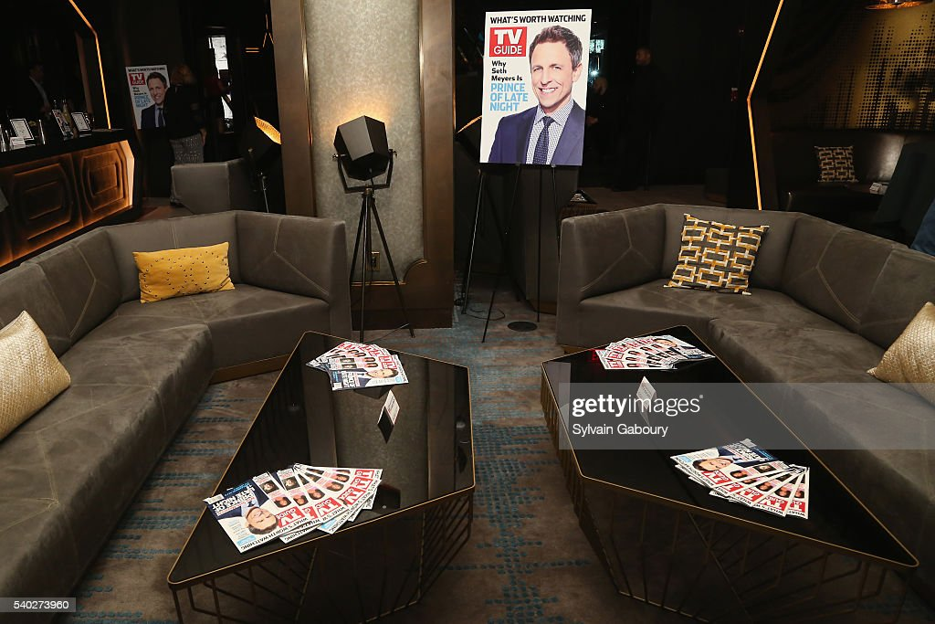 Tv guide magazine celebrates new cover star seth meyers at for W living room times square
