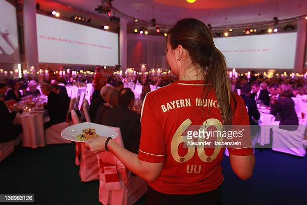 Atmosphere at the Uli Hoeness' 60th birthday celebration at Postpalast on January 13 2012 in Munich Germany