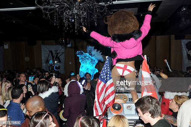 Atmosphere at the US launch of Moose Knuckles at Dream Downtown on October 20 2014 in New York City