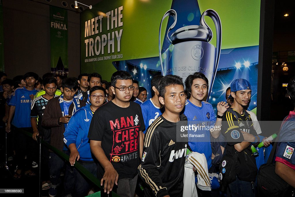 Atmosphere at UEFA memorabilia during the UEFA Champions League Trophy Tour 2013 presented by Heineken at Gandaria City Shopping Mall on April 14, 2013 in Jakarta, Indonesia.