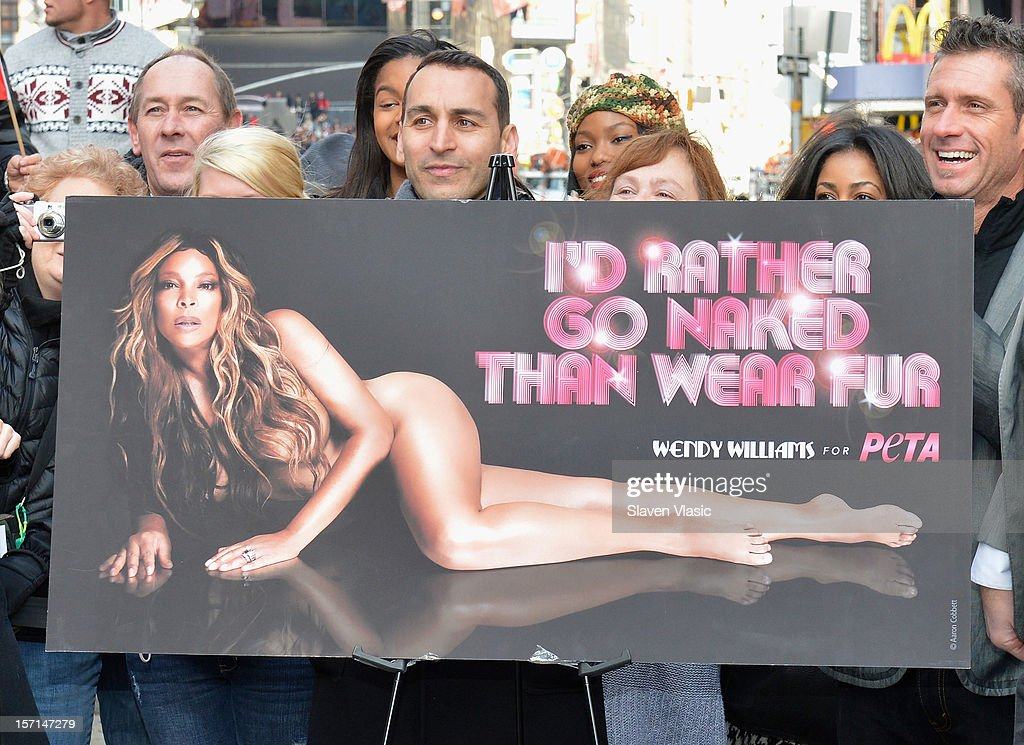 Atmosphere at Wendy Williams 'I'd Rather Go Naked Than Wear Fur' Winter PETA Campaign Launch at Times Square on November 28, 2012 in New York City.