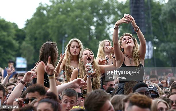 Atmosphere at Wireless Festival at Finsbury Park on July 5 2014 in London United Kingdom