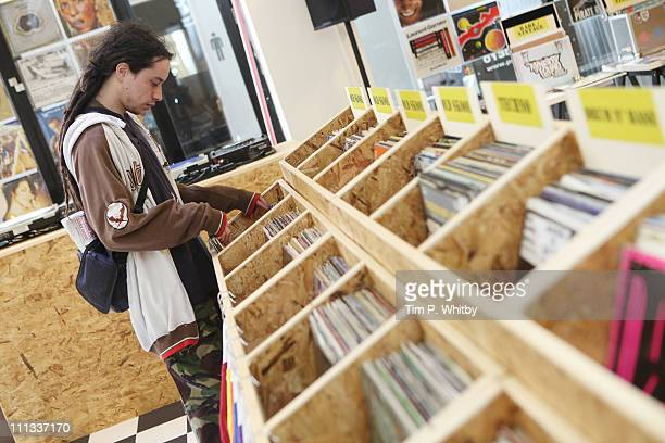 Atmosphere at Yells Ministry Of Found Dance and Music Exchange a pop up record store open for two days only in Brick Lane at Dray walk Brick Lane on...