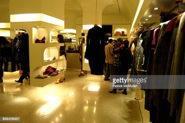 Atmosphere attends ALEXANDER MCQUEEN One Night in Fashion Store Party New York NY at Alexander McQueen Store w14th Street on September 10 2009 in NY...