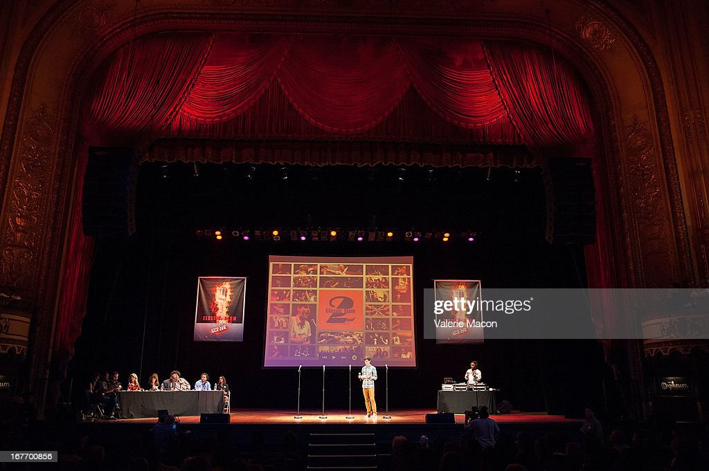 Atmosphere attends Get Lit Presents The 2nd Annual Classic Slam at Orpheum Theatre on April 27, 2013 in Los Angeles, California.