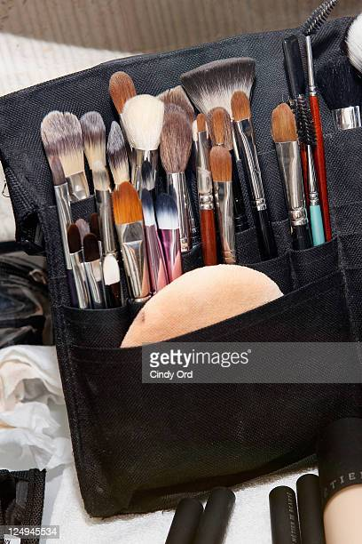 Atmosphere backstage at the Douglas Hannant Spring 2012 fashion show during MercedesBenz Fashion Week at The Plaza Hotel on September 14 2011 in New...