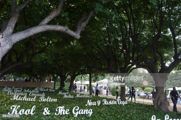 Atmosphere before the concert of Kool The Gang at Jardins Palau de Pedralbes on June 8 2017 in Barcelona Spain