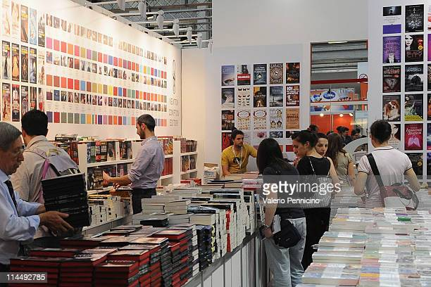 Atmosphere during 2011 Turin International Book Fair on May 12 2011 in Turin Italy