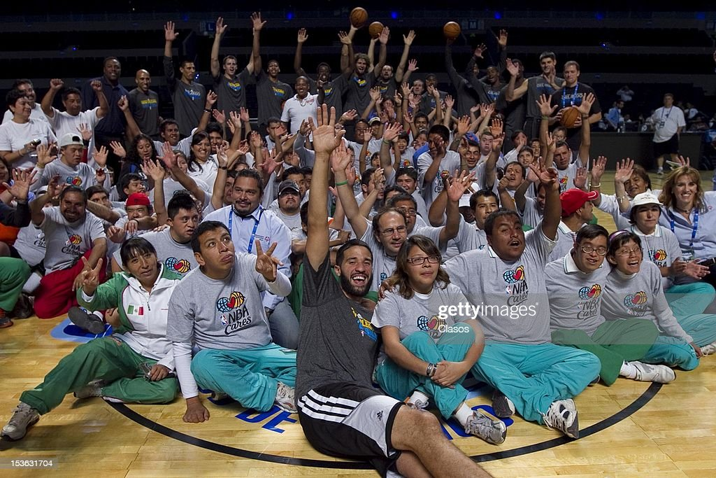 Atmosphere during a training session of New Orleans Hornets and Orlando Magic with disabled people at Arena on October 06, 2012 in Mexico City, Mexico.