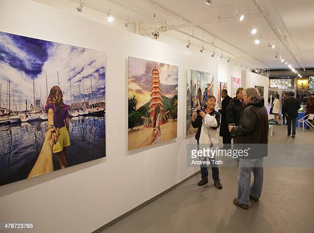Atmosphere during Avant Gallery New York City preview opening event at Avant Gallery on March 4 2014 in New York City