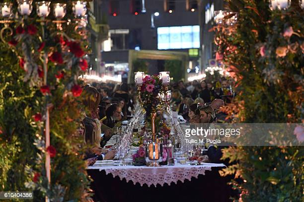 Atmosphere during Dolce Gabbana new boutique opening event On Audi Q2 during Milan Fashion Week Spring/Summer 2017 on September 25 2016 in Milan Italy