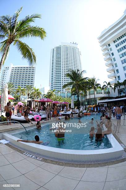 Atmosphere during Electric MackAPoolooza at the Fontainebleau on August 7 2015 in Miami Beach Florida