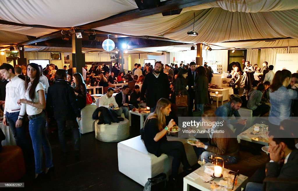 Atmosphere during FIAT Panda 4x4 event at the FIAT Open Lounge on January 24, 2013 in Milan, Italy.
