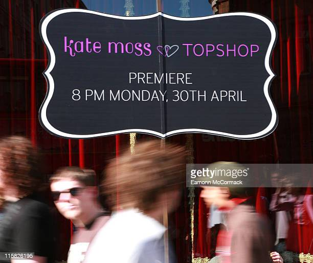 Atmosphere during Kate Moss for Topshop Launch at TopShop in London United Kingdom