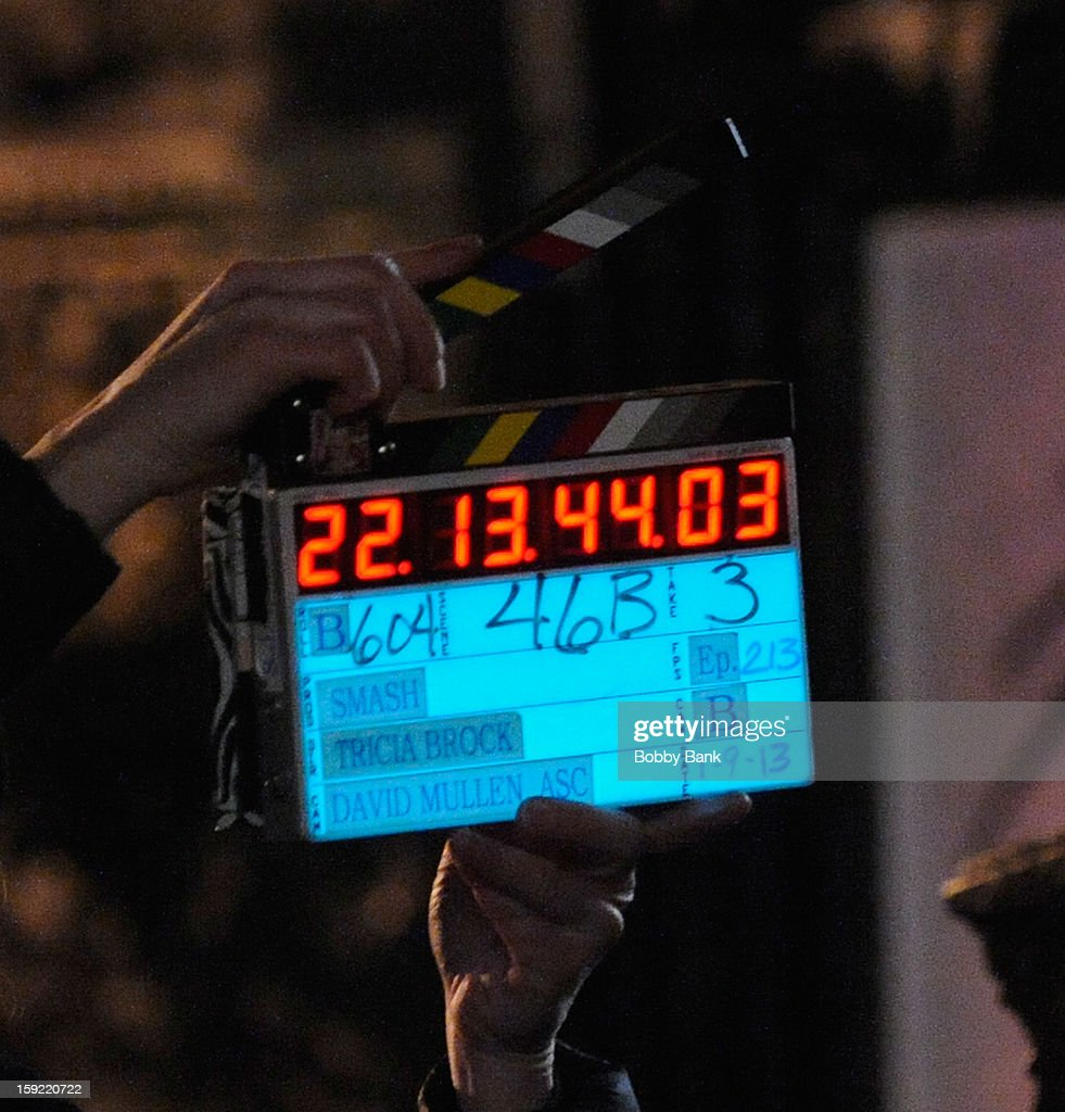 Atmosphere during location filming for 'Smash' on January 9, 2013 in New York City.