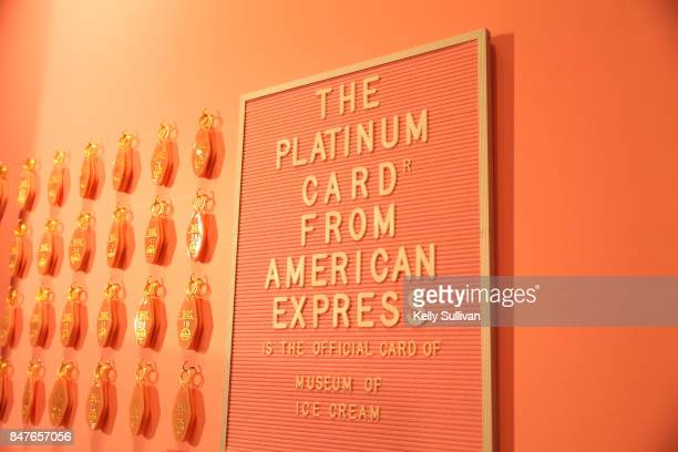 Atmosphere during Museum of Ice Cream opening party on September 15 2017 in San Francisco California