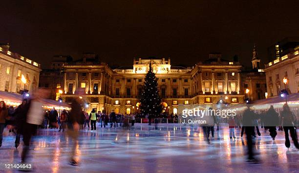 Atmosphere during Somerset House Ice Rink Press Launch at Sommerset House in London Great Britain