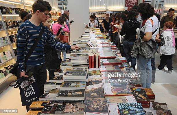 Atmosphere during the 2010 Turin International Book Fair on May 15 2010 in Turin Italy