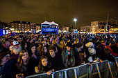 Atmosphere during the 2014 Allstate fan fest at the Allstate Sugar Bowl in the Jax Brewery Parking Lot on December 30 2014 in New Orleans Louisiana
