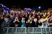 Atmosphere during the 2014 Allstate fan fest at the Allstate Sugar Bowl in the Jax Brewery Parking Lot on December 31 2014 in New Orleans Louisiana
