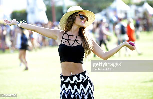 Atmosphere during the 2015 Coachella Valley Musica and Arts Festival at The Empire Polo Club on April 10 2015 in Indio California