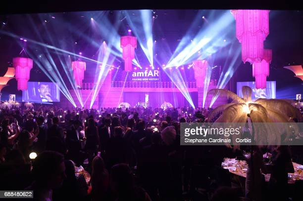 Atmosphere during the amfAR Gala Cannes 2017 at Hotel du CapEdenRoc on May 25 2017 in Cap d'Antibes France