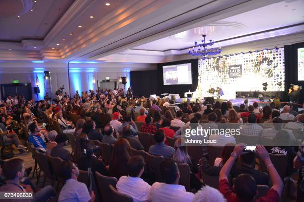Atmosphere during The Billboard Latin Music Conference Awards THE BILLBOARD SUPERSTAR MANO A MANO panel at Ritz Carlton South Beach on April 25 2017...