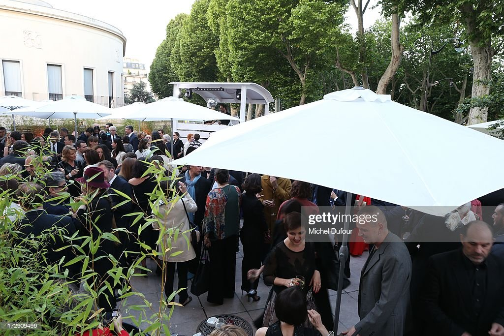 Atmosphere during the Chambre Syndicale de la Haute Couture cocktail party at Palais De Tokyo on July 4, 2013 in Paris, France.