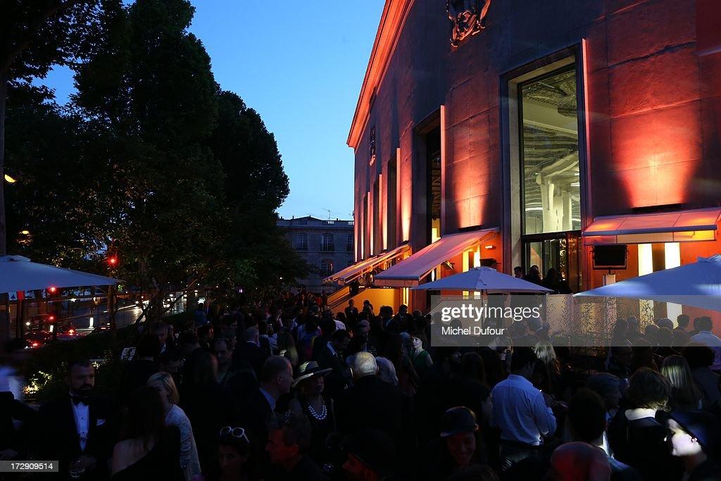 Atmosphere during the Chambre Syndicale de la Haute Couture cocktail party at Palais De Tokyo on July 4, 2013 in Paris, France.