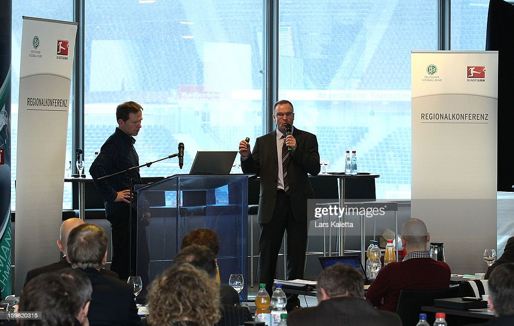 Atmosphere during the DFB & DFL regional conference at AWD Arena on January 21, 2013 in Hanover, Germany.