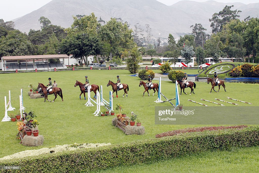 Atmosphere during the farewell Lunch and Paso Horse Show as part of the Sports Minister of America and Iberoamerican Meeting Organized by CID on March 20, 2013 in Lima Peru.