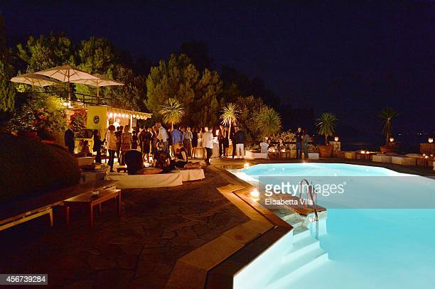 Atmosphere during the 'Il Pellicano Travel Guide' cocktail Launch at the Hotel Il Pellicano on October 4 2014 in Porto Ercole Italy