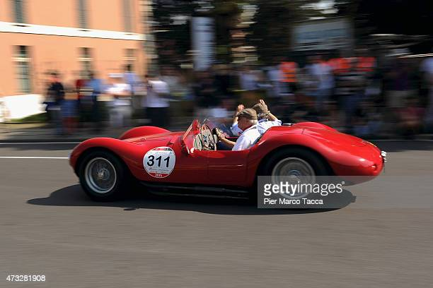 Atmosphere during the Mille Miglia historic road race at Brescia on May 14 2015 in Brescia Italy