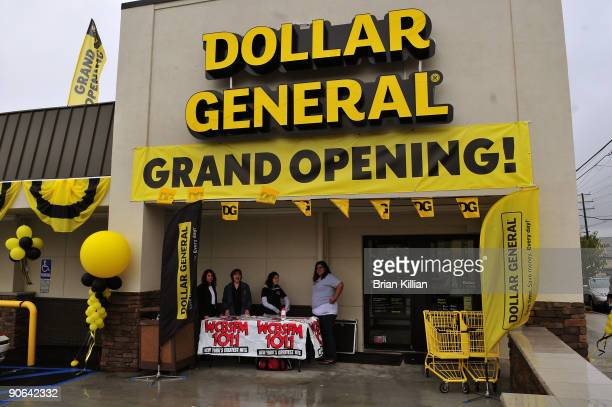 Atmosphere during the official opening of the Clifton Dollar General Store on September 12 2009 in Clifton New Jersey