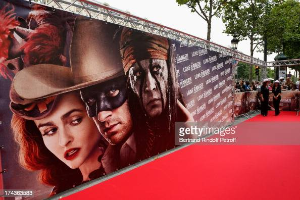 Atmosphere during the Paris Premiere of 'Lone Ranger' on July 24 2013 at UGC Normandy in Paris France
