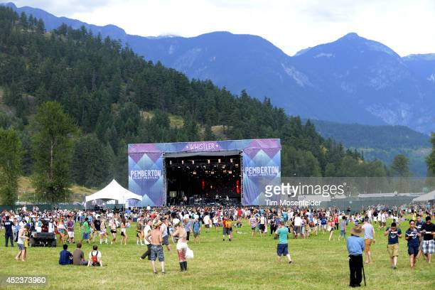 Atmosphere during the Pemberton Music and Arts Festival on July 18 2014 in Pemberton British Columbia