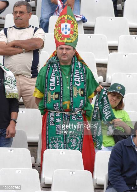 Atmosphere during the Portuguese Cup Final match between Belenenses and Sporting Lisbon held in Lisbon Portugal on May 27 2007