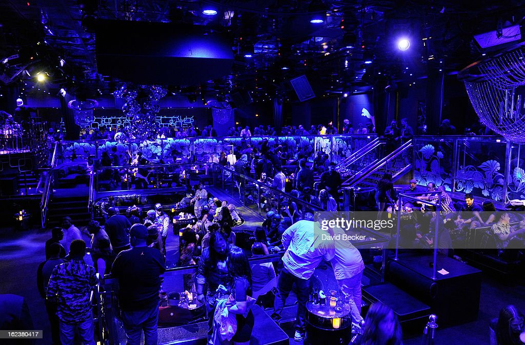 Atmosphere during the Puma party at The Bank Nightclub at the Bellagio on February 19, 2013 in Las Vegas, Nevada.