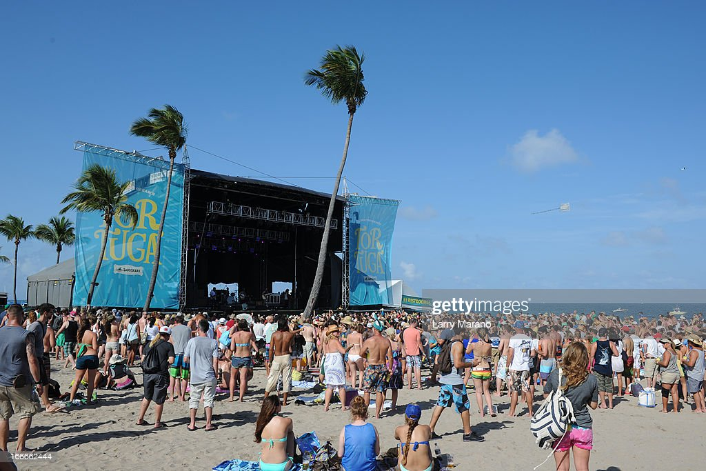 Atmosphere during the Rock The Oceans Tortuga Festival on April 14, 2013 in Fort Lauderdale, Florida.