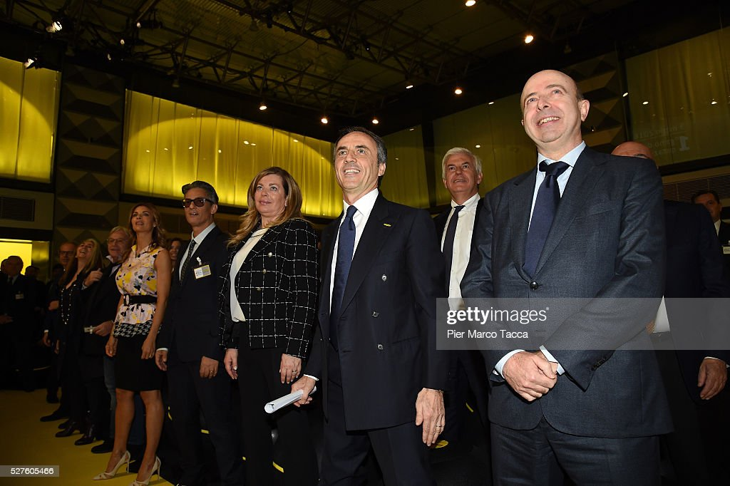Atmosphere during the Technogym Listing Ceremony at Palazzo Mezzanotte on May 3, 2016 in Milan, Italy. Technogym is the world leader in the construction of equipment for gyms, founded in 1983 by <a gi-track='captionPersonalityLinkClicked' href=/galleries/search?phrase=Nerio+Alessandri&family=editorial&specificpeople=4607198 ng-click='$event.stopPropagation()'>Nerio Alessandri</a>, and was quoted today on the Milan Stock Exchange.