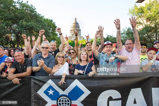 Atmosphere during the X Games Moto X Step Up Finals held at the Austin Capitol on June 4 2015 in Austin Texas