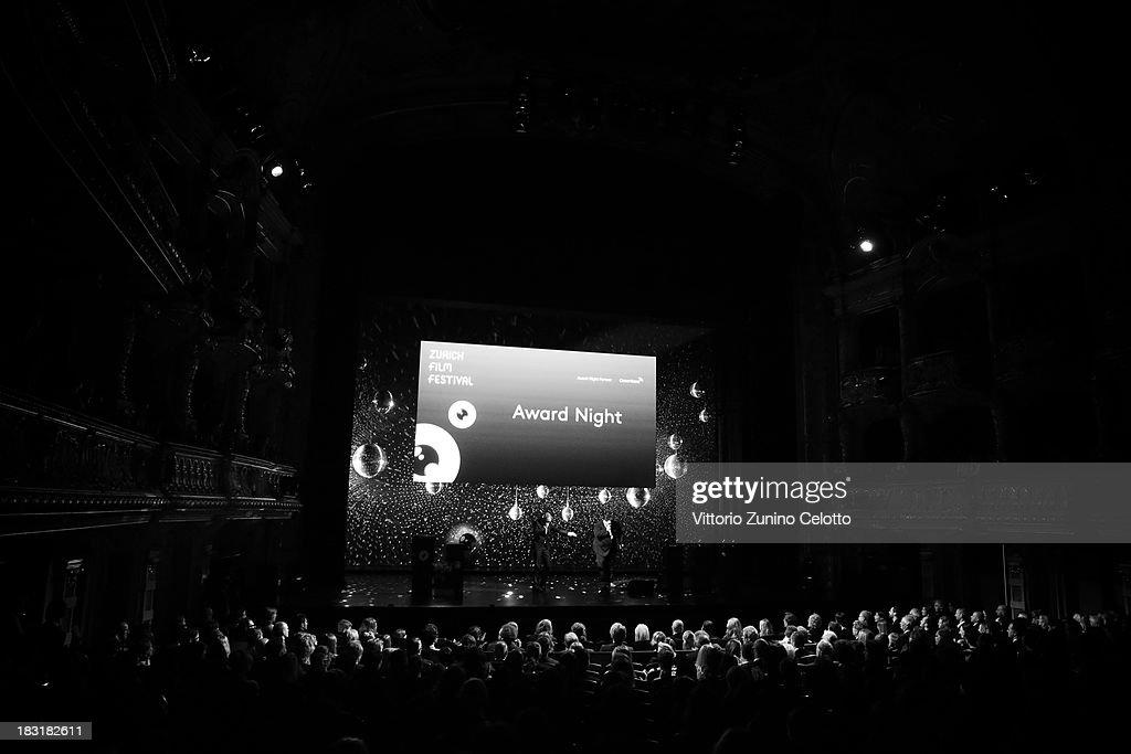 Atmosphere during the Zurich Film Festival 2013 award night on October 5, 2013 in Zurich, Switzerland.