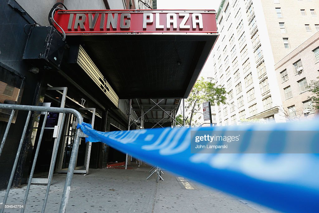 Atmosphere during theNational Anti-Violence Community Press Conference at Irving Plaza with family of Ronald McPhatter, shooting victim at Irving Plaza on May 26, 2016 in New York City.