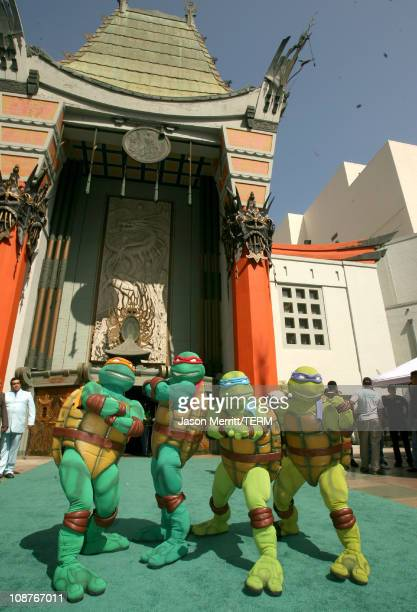 Atmosphere during 'TMNT' Los Angeles Premiere Red Carpet at Grauman's Chinese Theatre in Hollywood California United States
