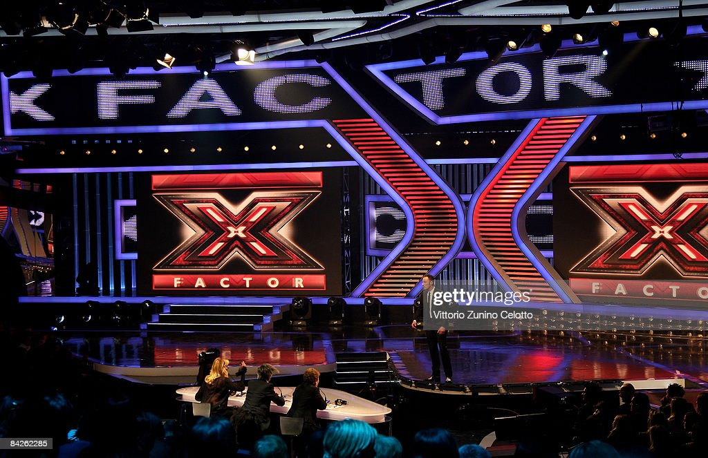 Atmosphere during X Factor Italian Music Show held at RAI Studios on January 12 2008 in Milan Italy